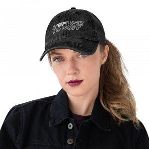 """R3FUSE TO QUIT"" Vintage Cotton Twill Cap"