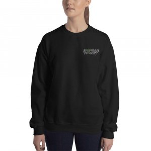 """""""REFUSE TO QUIT"""" Two Color Embroidered Crew"""